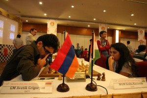 Avetik Grigoryan is shared leader after round 3